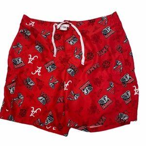 Pro Player Alabama logo men's red swim trunks